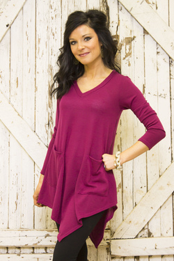 Chix + To the Point Tunic (Plum)