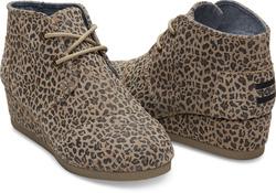 TOMS Desert Wedge ~ Cheetah Suede (Children)