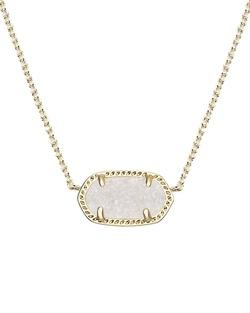 Kendra Scott ~ Elisa Pendant Necklace (Gold/IridescentDrusy)