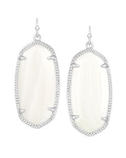 Kendra Scott ~ Elle Earring (Silver/Pearl)