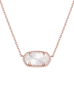Kendra Scott ~ Elisa Rose Gold Pendant Necklace In Ivory Pearl