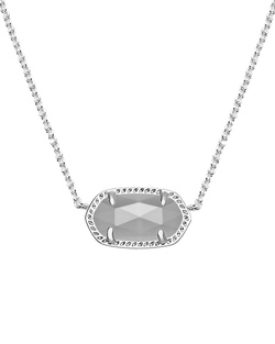 Kendra Scott ~ Elisa Silver Pendant Necklace In Slate