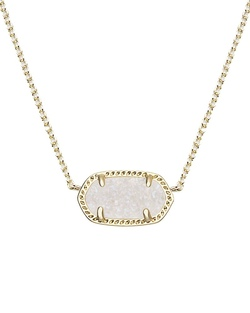 Kendra Scott ~ Elisa Rose Gold Pendant Necklace In Iridescent Drusy