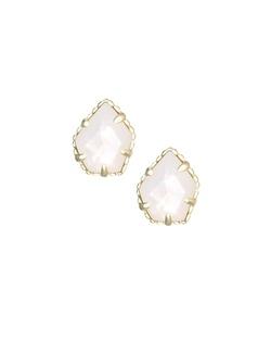 Kendra Scott ~ Tessa Stud Earrings In Ivory Pearl