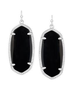 Kendra Scott ~ Elle Silver Earrings In Black