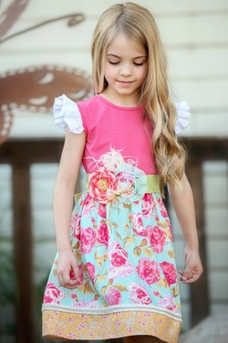 Persnickety Pocket Full of Posies ~ Erika Dress