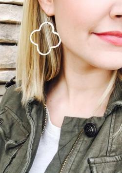 Gold Quartrefoil Earrings