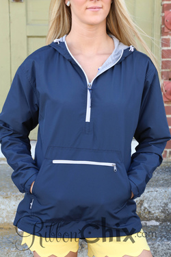 Chatham Anorak Half Zip Jacket (Navy)
