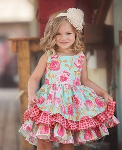 Persnickety Pocket Full of Posies ~ Adeline Dress