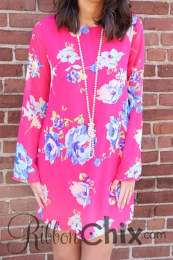 Everly ~ Blushing Blooms Dress