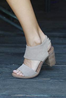TOMS Desert Taupe Suede Majorca Cutout Sandal
