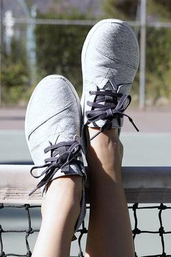 TOMS Grey Diamond Melange Del Rey Sneakers