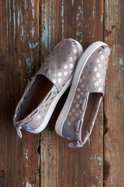 TOMS Youth Biminis with Rose Gold Foil Polka Dot