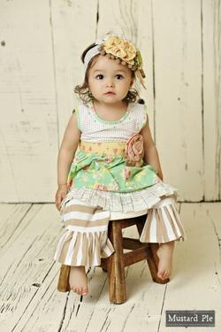 Mustard Pie ~ Andalusia Olivia Dress Set