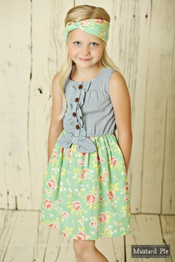 Mustard Pie ~ Andalusia Blossom Dress