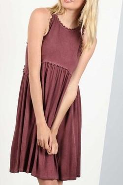 Fine and Dandelion Dress (Burgundy)