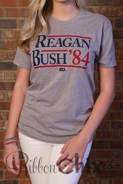 Rowdy Gentalman ~ Reagan Bush 84' Vintage Tee (Grey)
