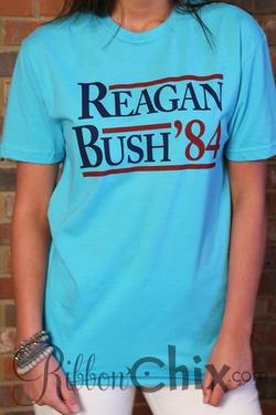 Rowdy Gentalman ~ Reagan Bush 84' Vintage Tee (Tahiti Blue)