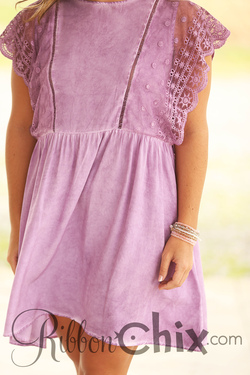 Lilac and Lace Swing Dress
