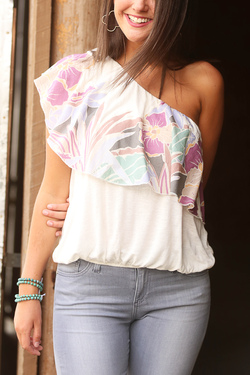 Free People ~ Annaka Bubble Top (Ivory)