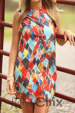 Joy Joy ~ Pieces of the Puzzle Dress