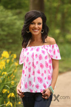 Buddy Love ~ Pax Barbie Off the Shoulder Top