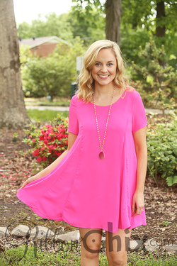 Smell the Roses ~ Lacey Dress (Hot Pink)