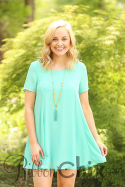 Smell the Roses ~ Lacey Mint Dress