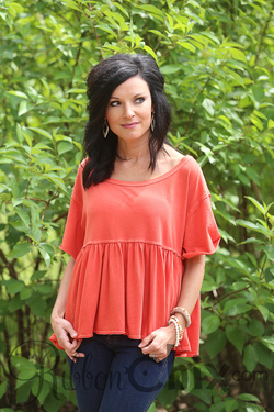 Free People ~ Odyssey Tee (Red)
