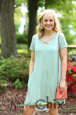 Sweeter than Fiction Dress (Sage)