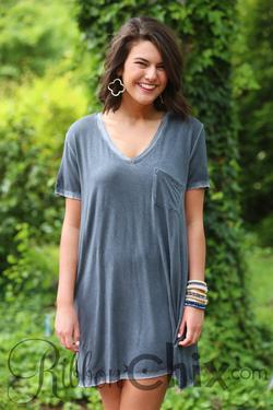 Strikingly Simple Dress (Ash)