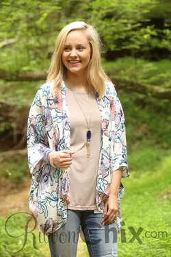 Everly ~ Floral Support Cardigan