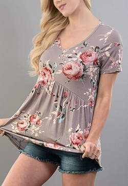 Lost in Blooms Top