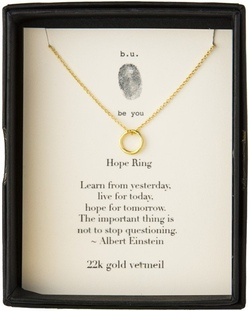 b.u. Gold Hope Ring Necklace