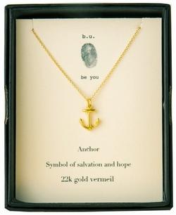 b.u. Anchor Gold Necklace