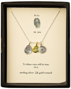 b.u. To Thine Own Self Be True Gold Necklace