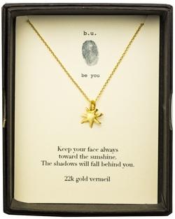b.u. Sun Gold Necklace