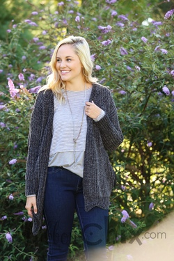 Whole Package Cardigan (Charcoal)