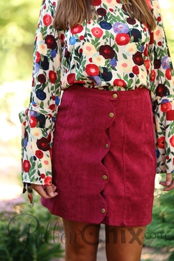 What are You Waiting For Skirt (Berry)