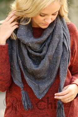 Always a Favorite Scarf (Charcoal)