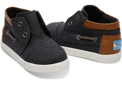 TOMS ~ Bimini High Sneakers Tiny (Black Washed Canvas)