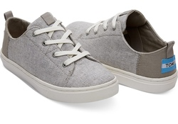 TOMS ~ Lenny Sneakers Youth (Drizzle Grey Slub Chambray)