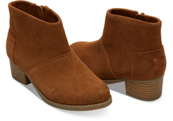 TOMS ~ Leila Booties Youth (Cinnamon Suede)
