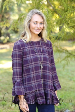 Plaid by Day Top