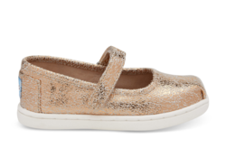 TOMS ~ Crackle Foil Tiny Mary Jane (Rose Gold)