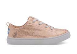 TOMS ~ Crackle Foil Youth Lenny Sneaker (Rose Gold)