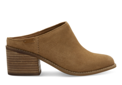 TOMS ~ Suede Womens Leila Mules (Toffee)