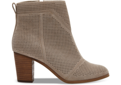 TOMS ~ Suede Perforated Women's Lunata Booties (Desert Taupe)