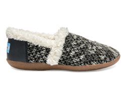 TOMS ~ Knit Womens House Slippers (Black Sparkle)
