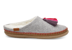TOMS ~ Tassle Women's Ivy Slippers (Drizzle Grey Wool)